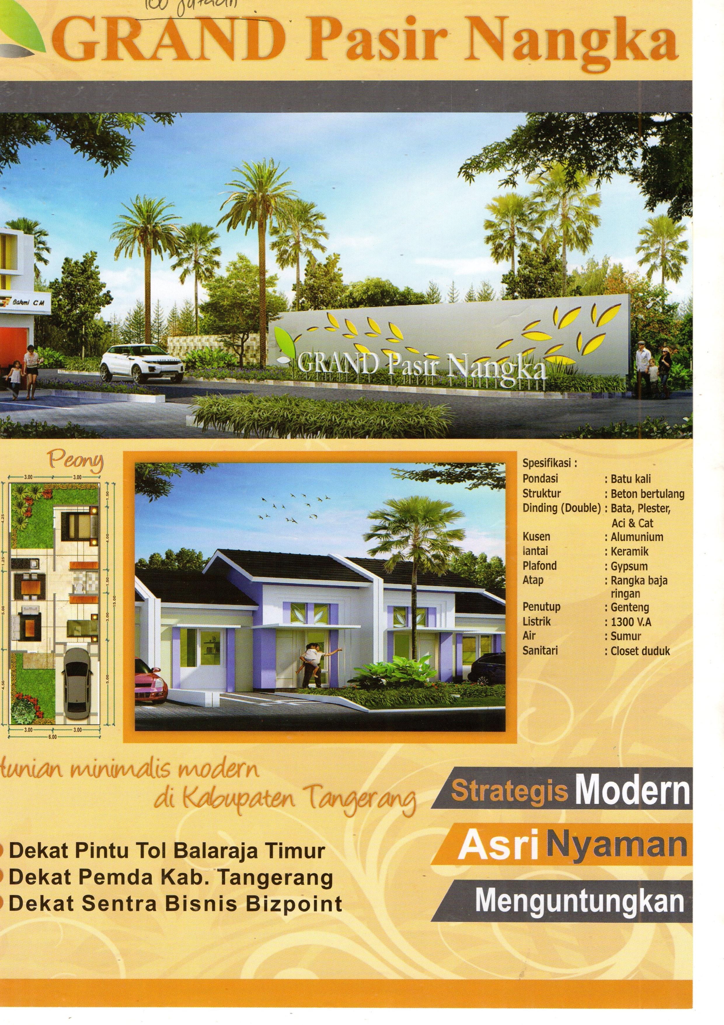 Nuansa Property 5758perumahan Grand Pasir Nangka Tigaraksa Perumahan